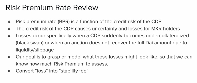 Risk Premium Rate review