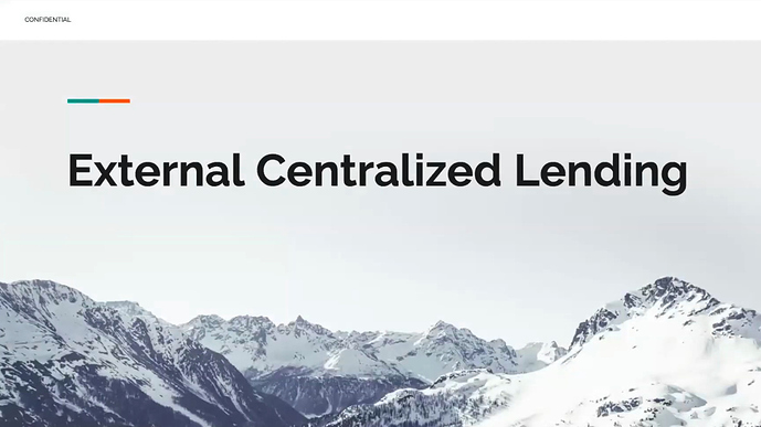 External Centrlized Lending