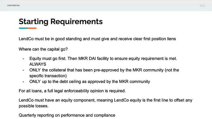 Starting Requirements