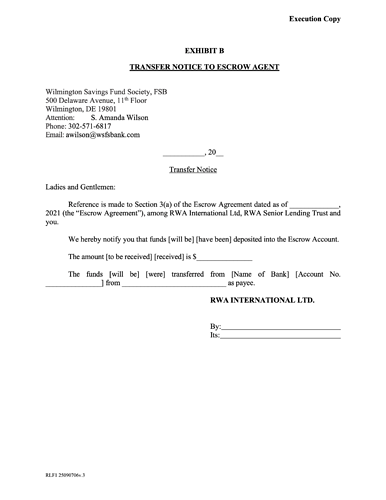 014-WSFS Form Escrow Agreement 2020 4.26.21 - post 14