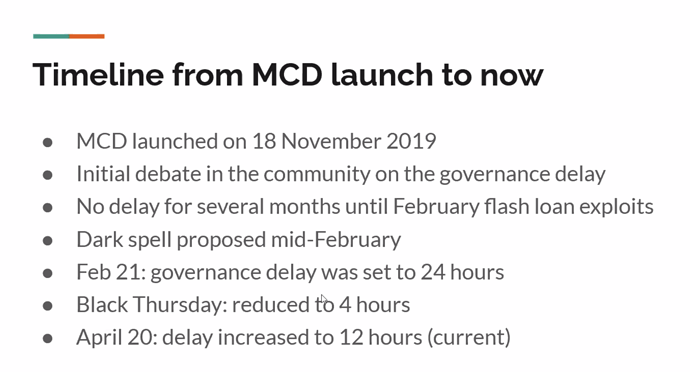 Timeline from MCD Launch to Now