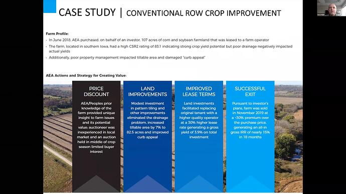 Case study - conventional row crop improvement