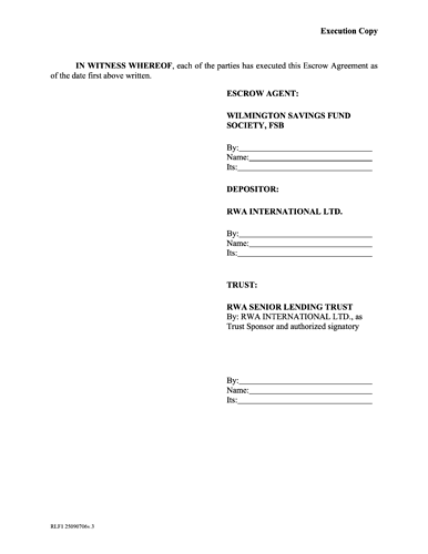 010-WSFS Form Escrow Agreement 2020 4.26.21 - post 10
