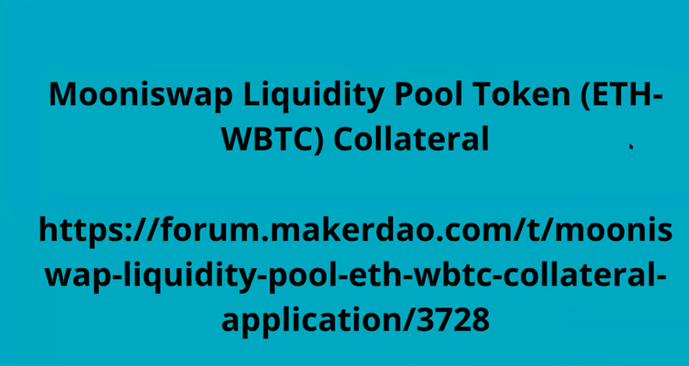 Application to Maker ETH-WBTC