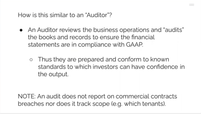 "How is this similar to an ""auditor"""