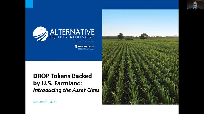 DROP tokens backed by U.S. farmland