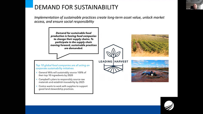 Demand for sustainability