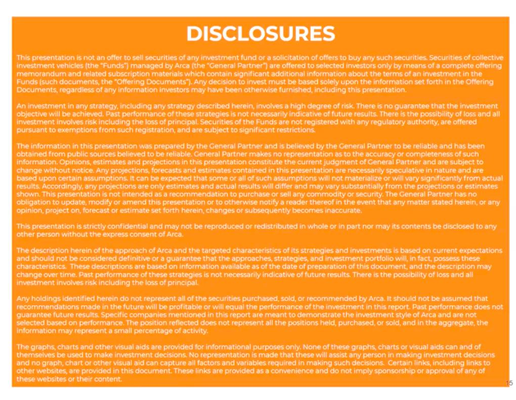 ArCoin Disclosures